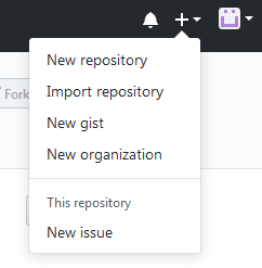 Clicking on New Repository